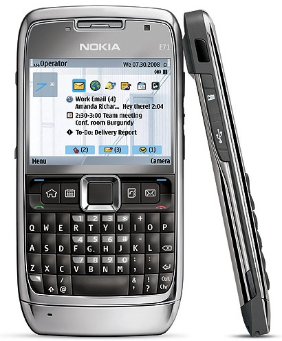 El Nokia E71 es perfecto para usuarios de negocios